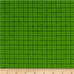 Local Color Yarn Dyed Flannels Window Pane Green