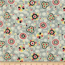 Aunt Grace Ties One On Geo Collage Grey