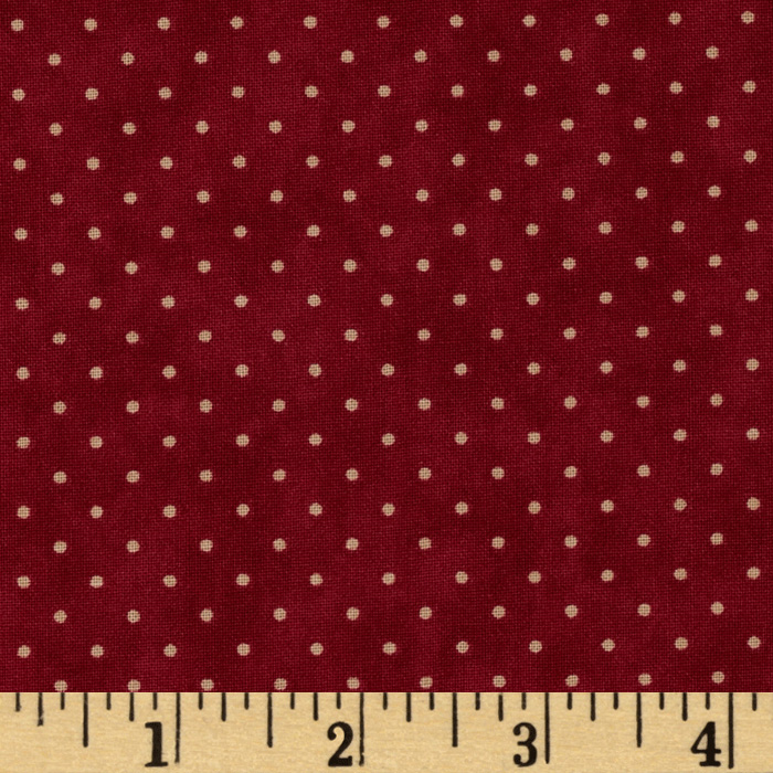 Moda Essential Dots (# 8654-18) Red Fabric