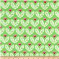 Michael Miller Frolic On Jersey Knit Big Love Lime