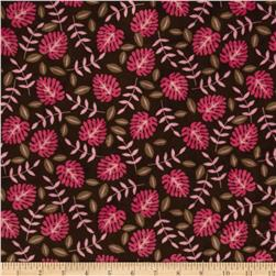 Minky Cuddle Jungle Palm Fuchsia Fabric
