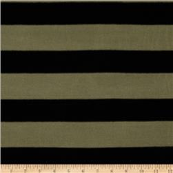 Knit Stripe Black/Olive