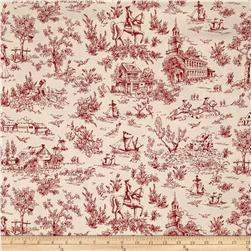 Kaufman Betsy's Basket Toile Red