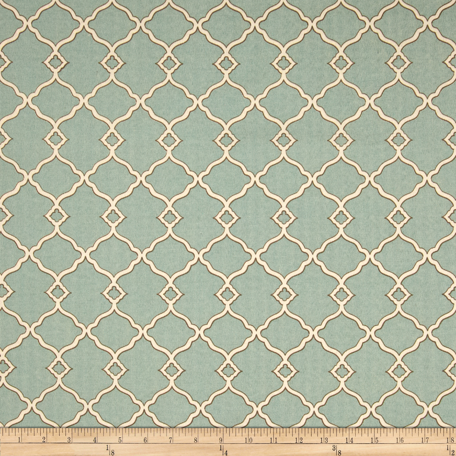 Waverly Sun N Shade Chippendale Fretwork Mineral Fabric