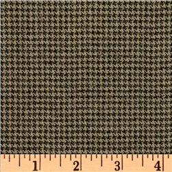 Wool/Silk Suiting Houndstooth Black/Tan
