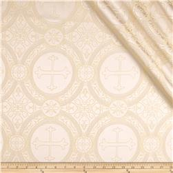 Clergy Brocade White/Gold