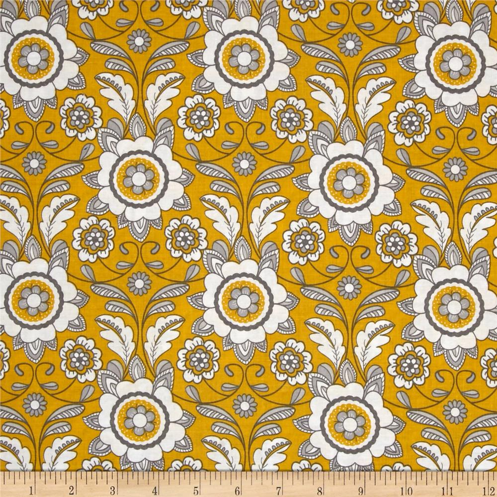 Riley Blake Parisian Scroll Yellow