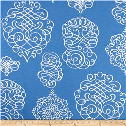 P Kaufmann Indoor/Outdoor Blue Print Azure