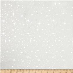 Ice Organza Silver Star White