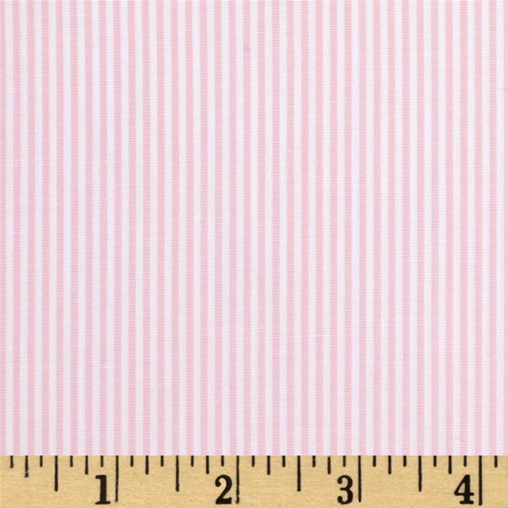 Wide Crease Resistant Pima Stripe Pink