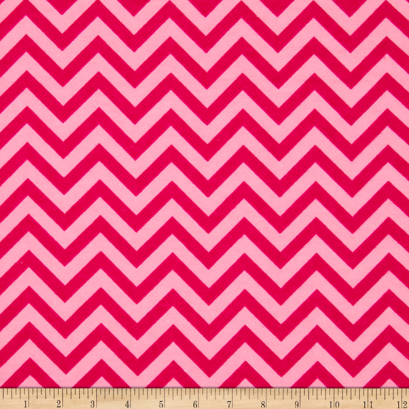 Flannel Chevron Love Pink Fabric