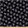 Spring Fling Tossed Floral Black/Purple