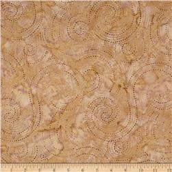 Indonesian Batik Swirl Brown