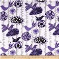 Premier Prints Mockingbird Minky Cuddle Menagerie Indigo