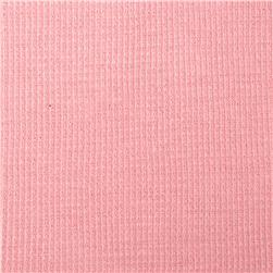 Cotton Poly Thermal Knit Pink