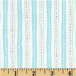 Critter Patch Organic Stripe Aqua
