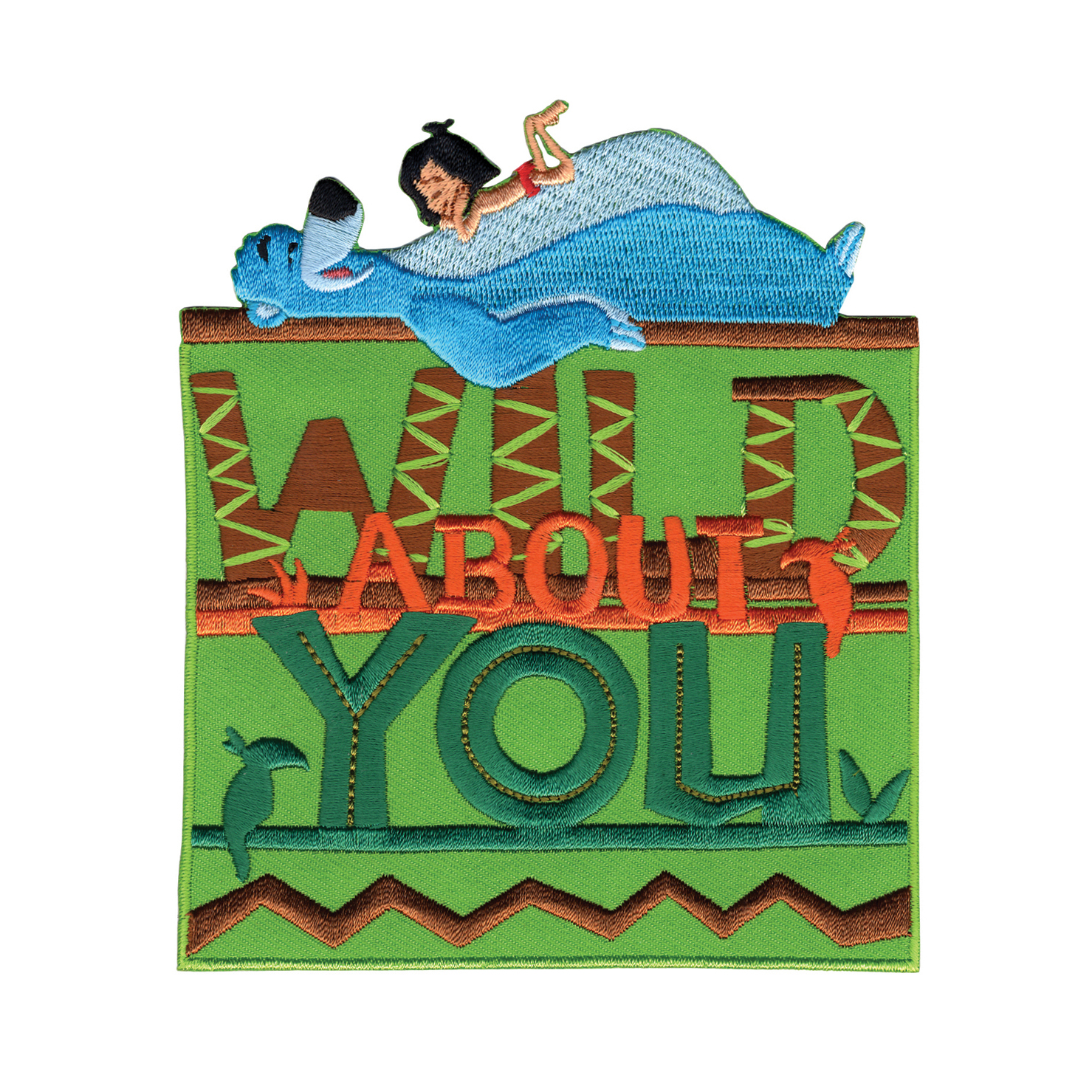 Disney Jungle Book Iron On Applique Wild About You by Notions Marketing in USA