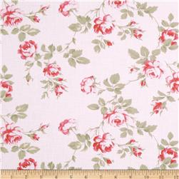 Petal Scattered Roses Pink Fabric