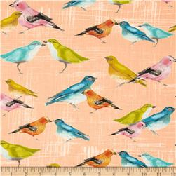 Michael Miller Flutter Birdies Candy Fabric