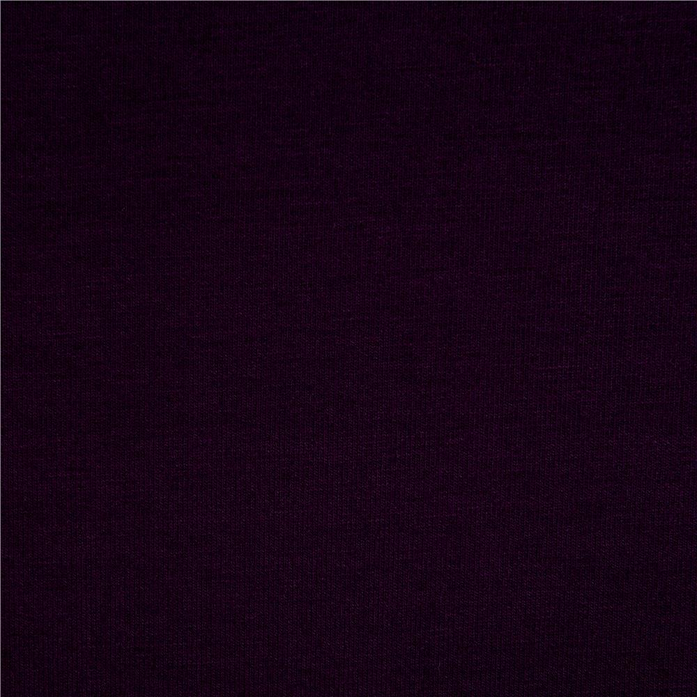 Telio Stretch Bamboo Rayon Jersey Knit Eggplant Fabric By The Yard