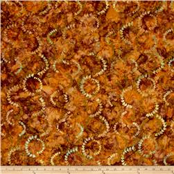 Timeless Treasures Tonga Batik Copper Currents Ginger