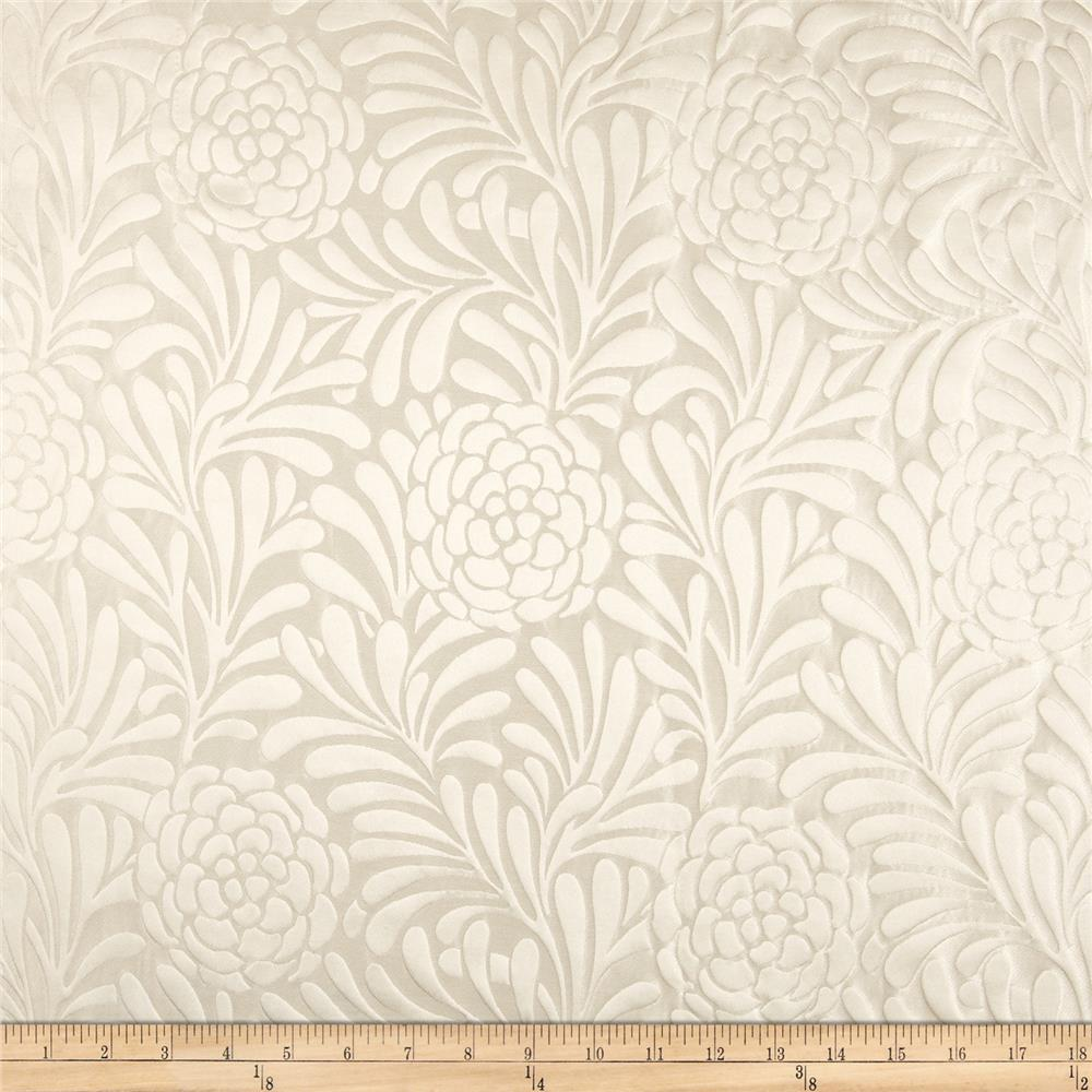 Richloom Bosworth Satin Jacquard Snow