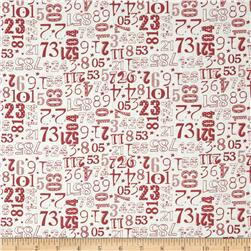 Moda The Boat House Crew Numbers Vanilla-Red
