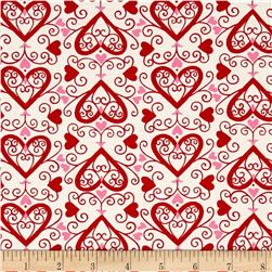 Moda Ever After Ups & Downs Ivory/Red