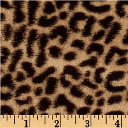 Minky Cheetah Soft Cuddle Tan/Brown Fabric