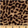 Minky Cheetah Soft Cuddle Tan/Brown