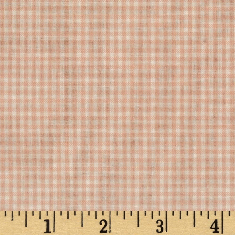 Yarn Dyed Flannel Gingham Pink/Cream