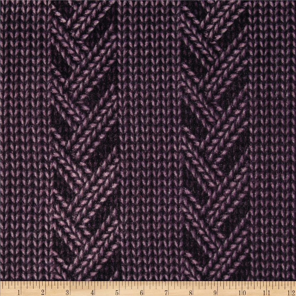 Hatchi Knit Sweater Print Purple