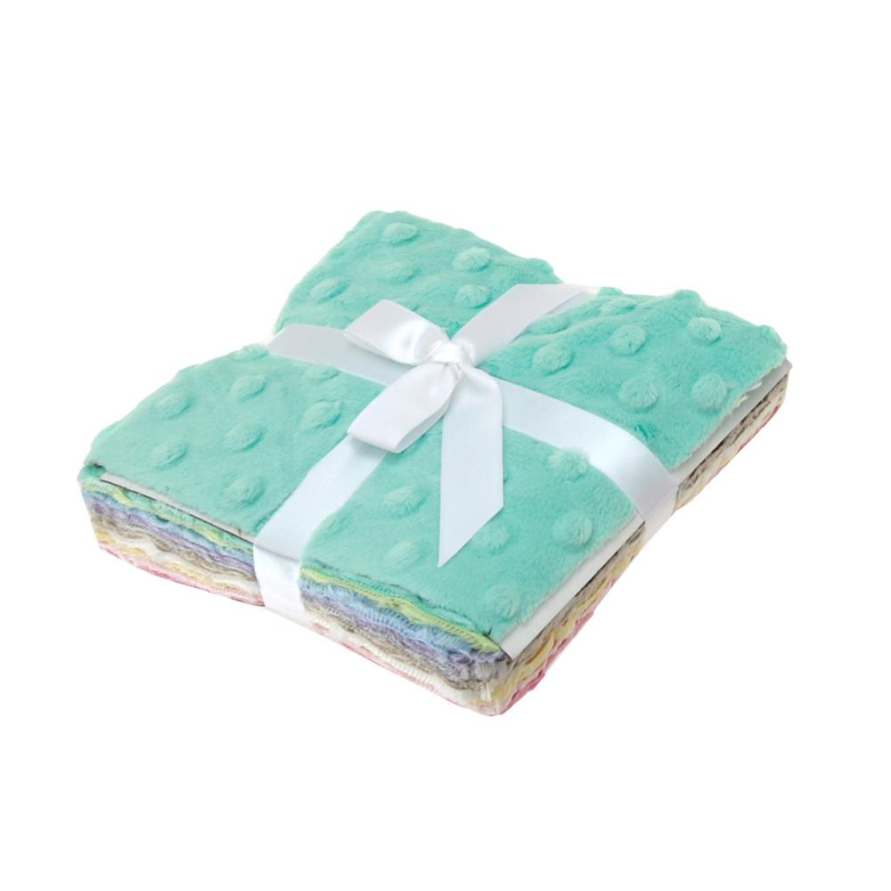 Minky Cuddle Pretty Pastels Dimple Dot 5'' Charm Packs