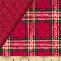 Holiday Blitz Double Sided Quilted Large Plaid Red