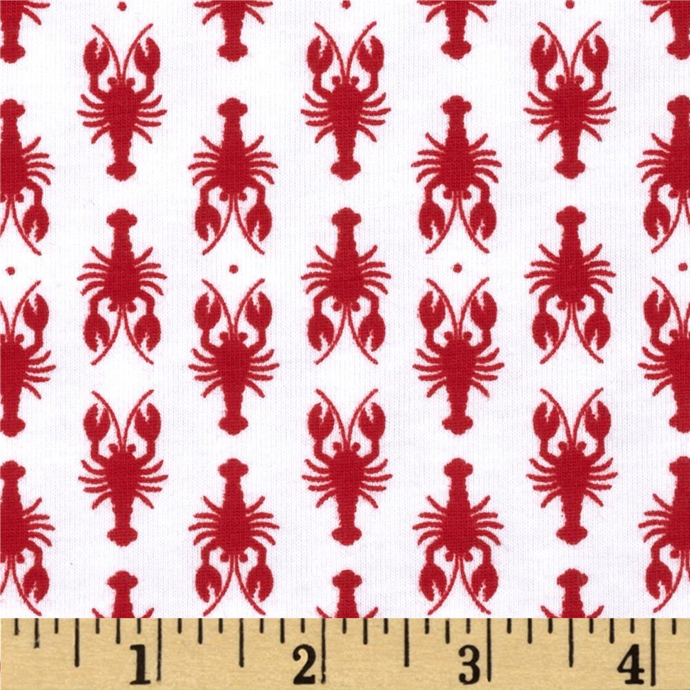 Riley Blake Lobster Knit Red