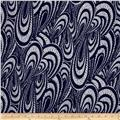 Indigo Blues Abstract Paisley Blue