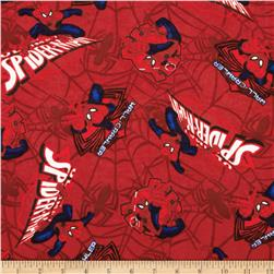 Marvel Comics Spiderman Flannel Ultimate Spiderman Patch Red