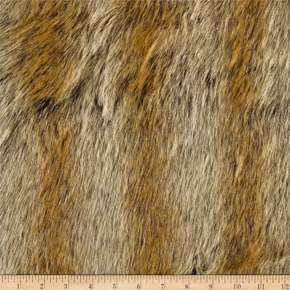 Faux Fur Chinchilla Gold