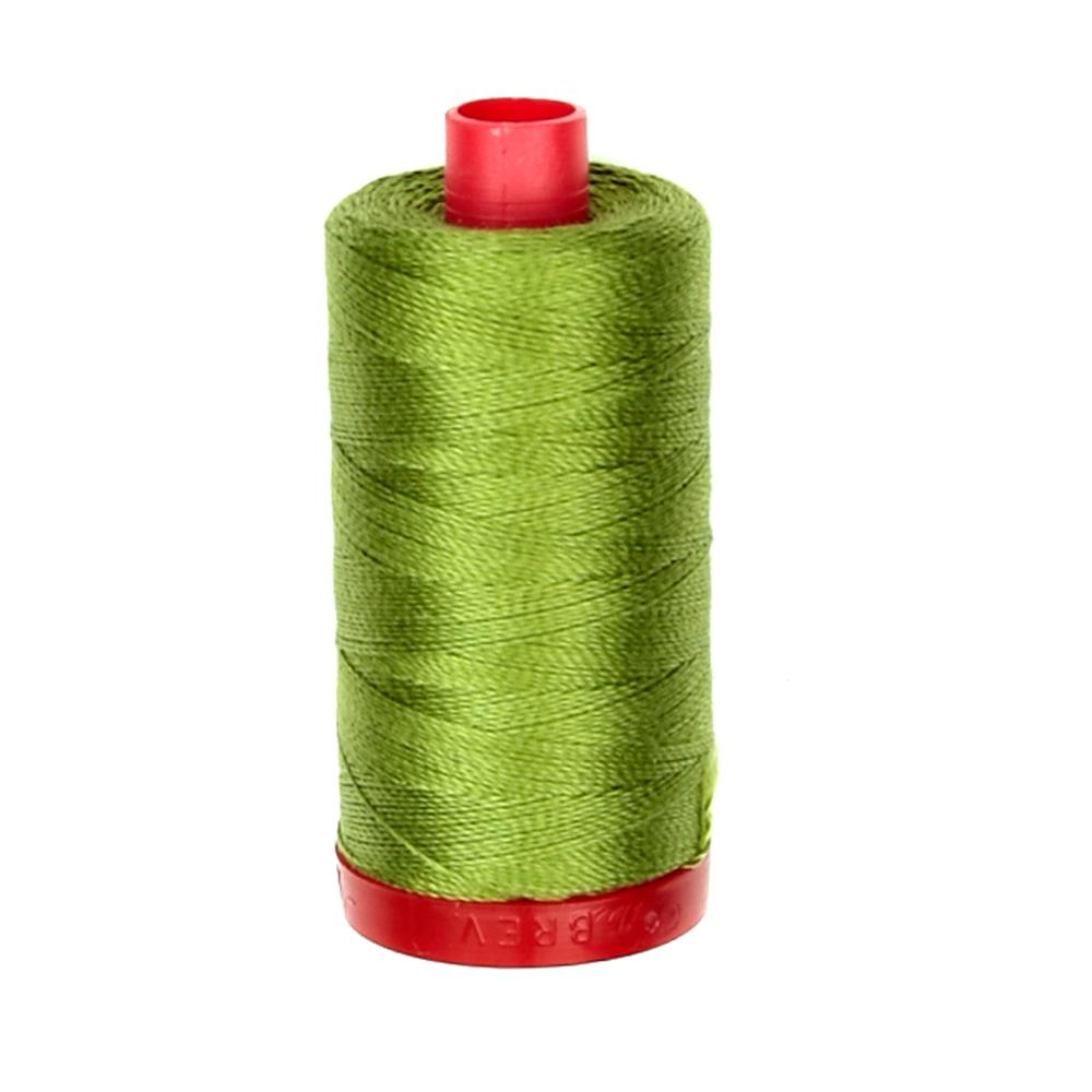 Aurifil 12wt Embellishment and Sashiko Dreams Thread Olive Green