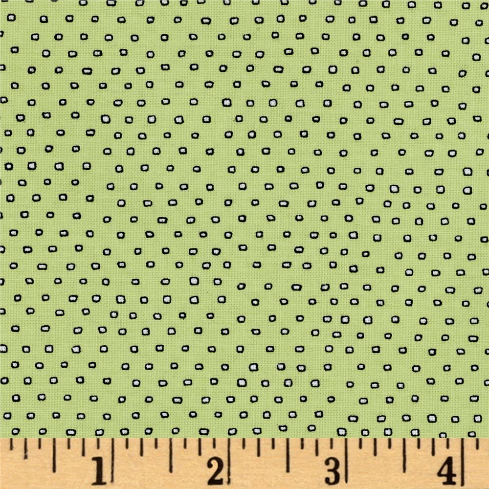 Pixie Square Dot  Lt Green
