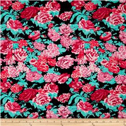 Ponte De Roma Floral Prints Navy/Red/Pink