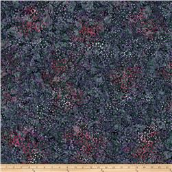 Wilmington Batiks Small Flowers and Dots Dark Gray