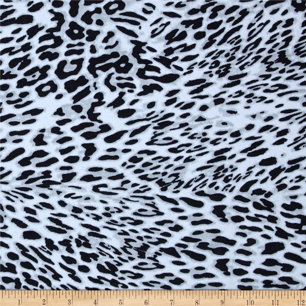 Swimwear Knit Animal White Cheetah Black/White/Grey
