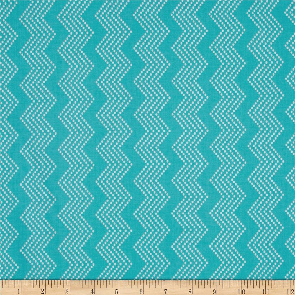 Mosaica Chevrons Turquoise/White