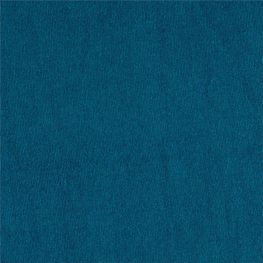 Jersey Knit Solid Royal Teal Fabric By The Yard