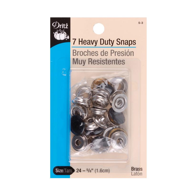 "Dritz Heavy Duty Snaps 5/8"" Black"