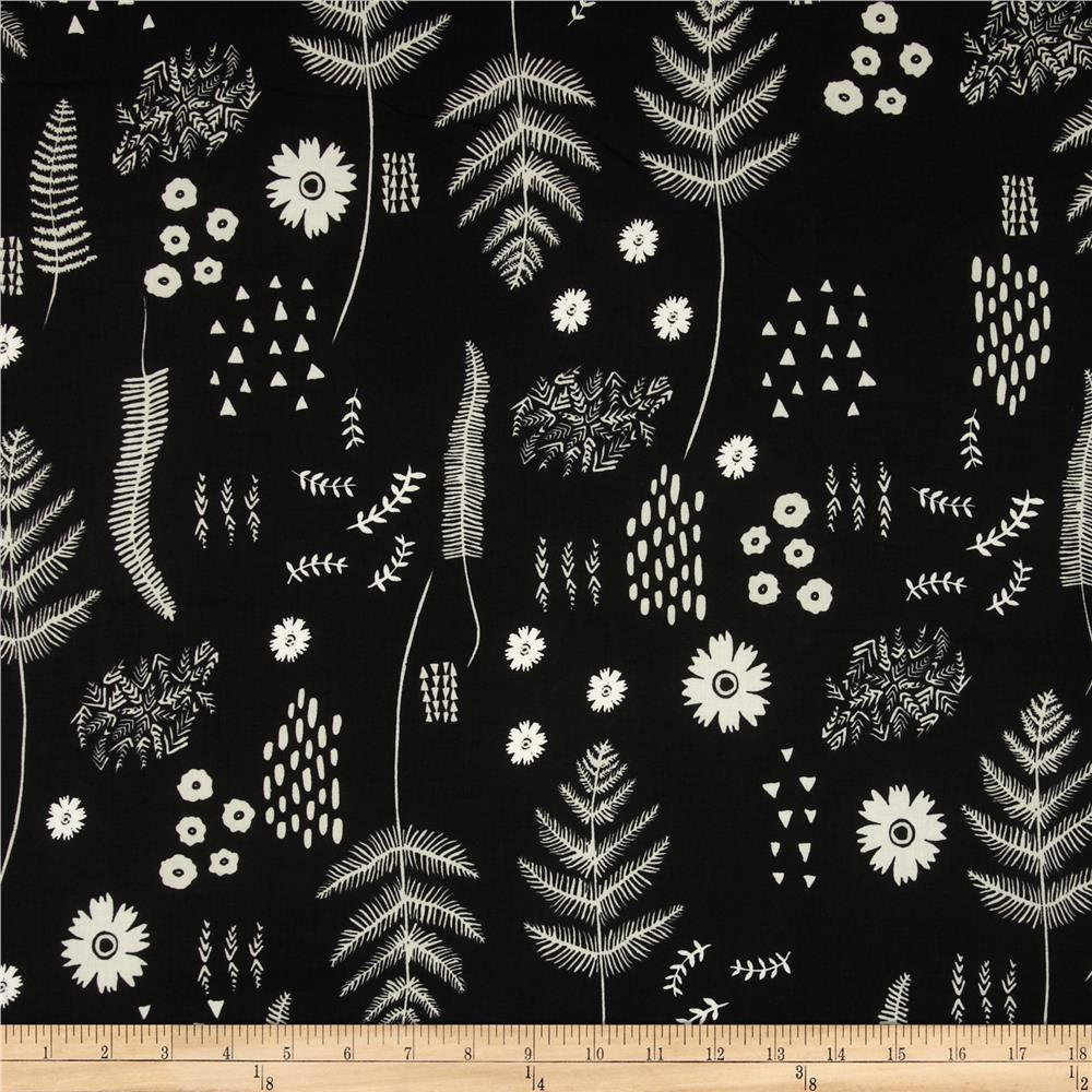 Cotton + Steel Black & White Botanical Floral
