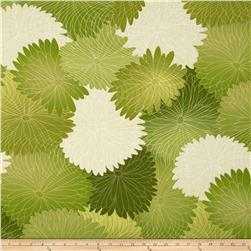 Kanvas Sakura Blossoms Celadon Fabric