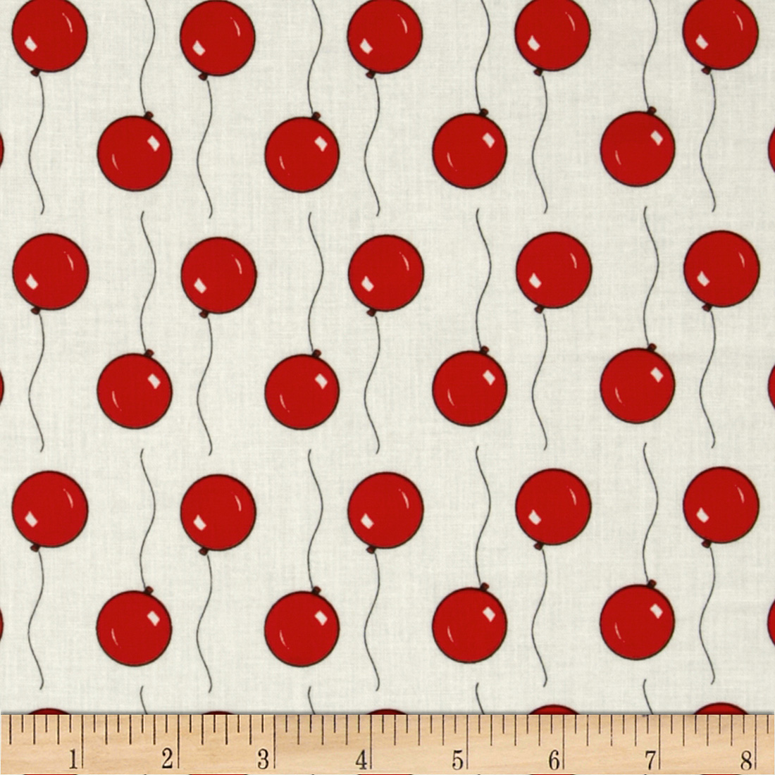 Goodnight Moon Organic Balloons White/Red Fabric