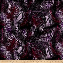 Rayon Challis Animal Prints Purple/Magneta